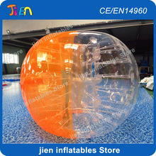 free air shipping to door,7pcs 1.5m balls+one air pump,inflatable human body belly hamster football ball,bubble zorb soccer(China)