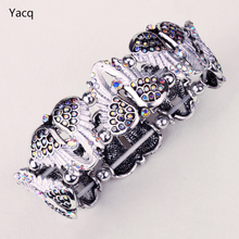 YACQ Angel Wings Stretch Bracelet Bangle for Women Biker Crystal Punk Jewelry Gifts for Her Wife Mom Wholesale Dropshipping D10(China)