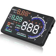 "Car styling Universal Car hud head up display A8 5.5"" GPS speedometer Smart Digital car speedometer OBD2 Interface"
