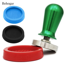 Behogar 60mm 2.36 inch Espresso Tamper Mat Silicone Tamping Stand for Coffee Coffe Tamper Seat Barista Tools for Accessories(China)