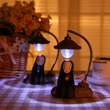 Hayao miyazaki totoro spirited away without face small night light man without face reading lamp handicraft birthday gift