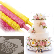 13 Colors Emboss Rolling Pin Fondant Printing Mould Sugar Paste Pastry Cutter Embossed Mold Kitchen Baking Cake Decorating Tools(China)