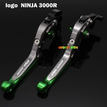 For Kawasaki Ninja 300R 2013-2016 2014 2015 2016 CNC Folding Extendable Motorcycle Brake Clutch Levers Laser Logo(Ninja 300R )