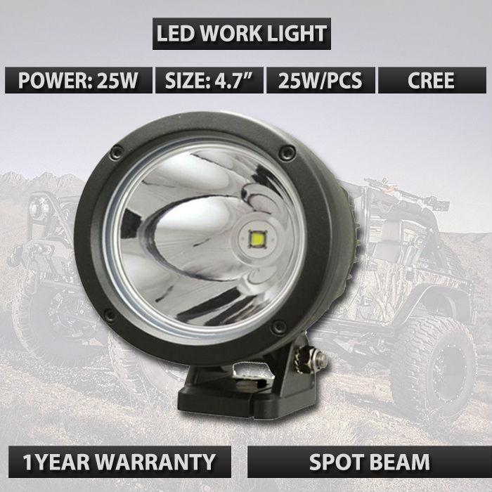95%Similar with GDCREESTAR 4.5 LED Light Cannon 25 Watt 10 Degree Spot Beam used for truck car suv atv 12V 24V External lamps<br>