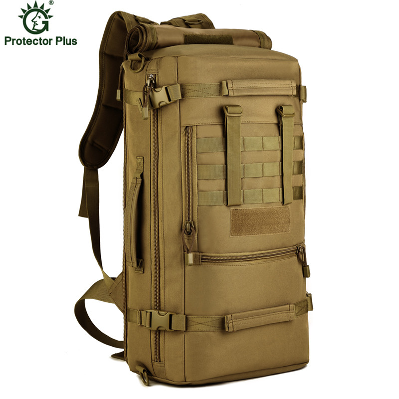 Mens Military Backpack 50L Camouflage Laptop Backpack Women Bag Mountaineering Backpacks Men Travel Bags P103<br>