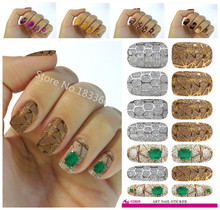 Fashion Nails Art Sticker Colored Bright Crystal Design Nail Sticker Manicure Decor Tools Nail Wraps Decals K626