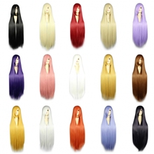 100cm long straight pink/red/silver 13colors anime cosplay wigs, japanese Kanekalon synthetic ladies party  wig peruca