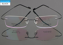 Rimless Eyeglass Frame Black Man Women Glasses Spectacles Optical RX 817(China)