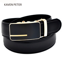 Men Automatic Buckle Brand Designer Leather Belts Cowskin Luxury Automatic Buckle Leather Belt Alloy Buckle Men Waistband