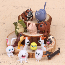 14pcs/lot Cartoon The Secret Pets Life Dog PVC Toys Animal Dolls Children Toys For Kids Gif Action Figure Toy