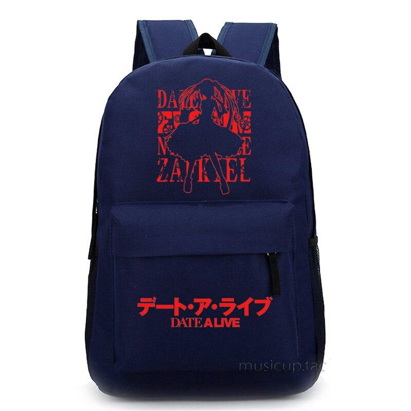 DATE A LIVE Tokisaki Kurumi 4 Choices Unisex School Bag for Teenagers Women Bakpacks Free Shipping<br>