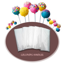 MJ005 DIY 100Pcs 100mm Pop Sucker Sticks Cake Plastic Lolly Lollipop Candy Chocolate Modelling Mould Mold(China)