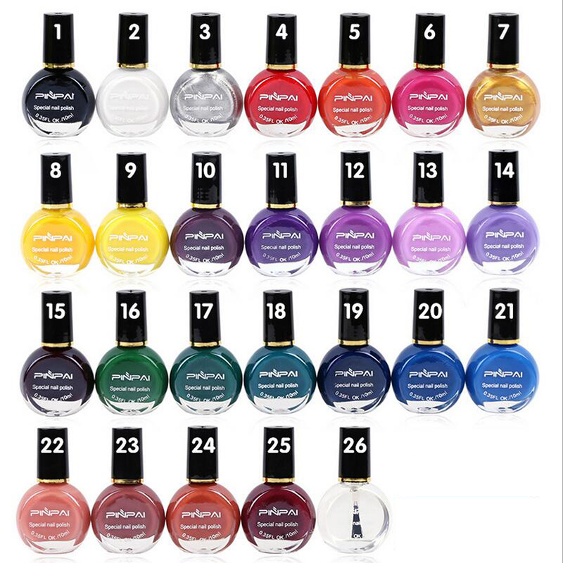 26 Colors Optional Nail Stamping Polish 10ml Nail Art Printing Primer Oil Professional Varnishes Paint For Stamp Plate Painting(China (Mainland))