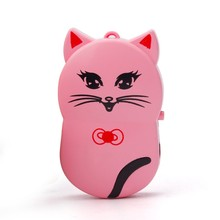 Mini Metal Clip USB MP3 Player Support upto 32GB Micro SD TF Card Music Media mp3 player box  Puscard mp3 Hello Kitty  Hot pink