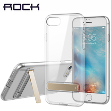 ROCK TPU Kickstand Case For iPhone 7/ 7 Plus Slim Crystal Rubber Stand Cover For iPhone7/7 Plus Brand Phone Covers Silicone(China)