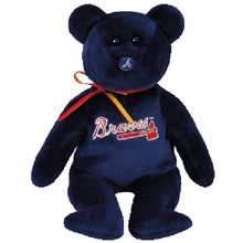 "Pyoopeo Ty Beanie Babies 6"" 15cm Atlanta Braves MLB Teddy Bear Plush Regular Stuffed Animal Collectible Soft Doll Toy with Tags(China)"