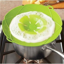 28cm Silicone Anti-overflow Lid Kitchen Gadgets Spill Stopper Pot Cover Cooking Pot Lids Utensil Kitchen Accessories