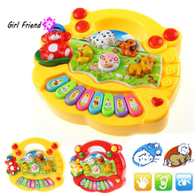 Baby Animal Farm Piano Music Toy Kids Musical Educational Piano Cartoon Animal Farm Developmental Toys for Children Gift