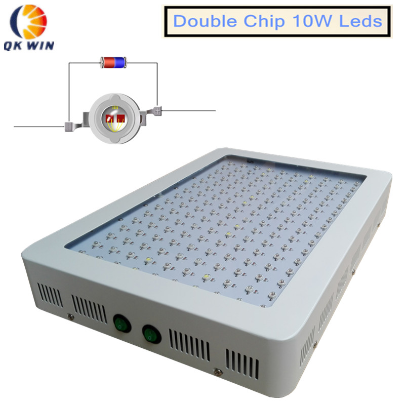 QkwinPlus 10W Led grow light full spectrum 1600W with 160x10W double chip leds Flowering LEDs 660nm dropshipping<br><br>Aliexpress