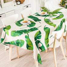 Linen Table decor TV Tablecloth Refrigerator Cover Home Decorative American style rural 8 Green plants simplicity Tablecloth(China)
