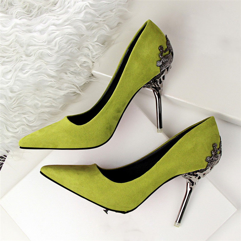 Sexy High Heels Shoes Woman Pumps Red Gold Silver High Heels Shoes Woman Ladies Wedding Party Shoes 2018 8