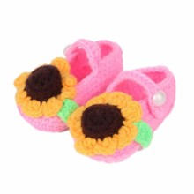 1 Pair Free Shipping Baby Girls Winner Shoes Crib Crochet Baby Handmade Knit Sock Infant Shoes #YL(China)
