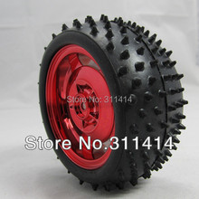 4pcs/lot Car Wheels 85MM Rubber Wheel Tire Tyres Width 38MM Intelligent Tracking Car Chassis Robot Accessories Wholesale(China)