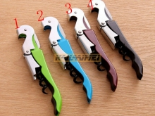 1000pcs Multi-function Wine Corkscrew Stainless Steel Bottle Opener Knife Pull Tap Double Hinged Corkscrew  Gifts