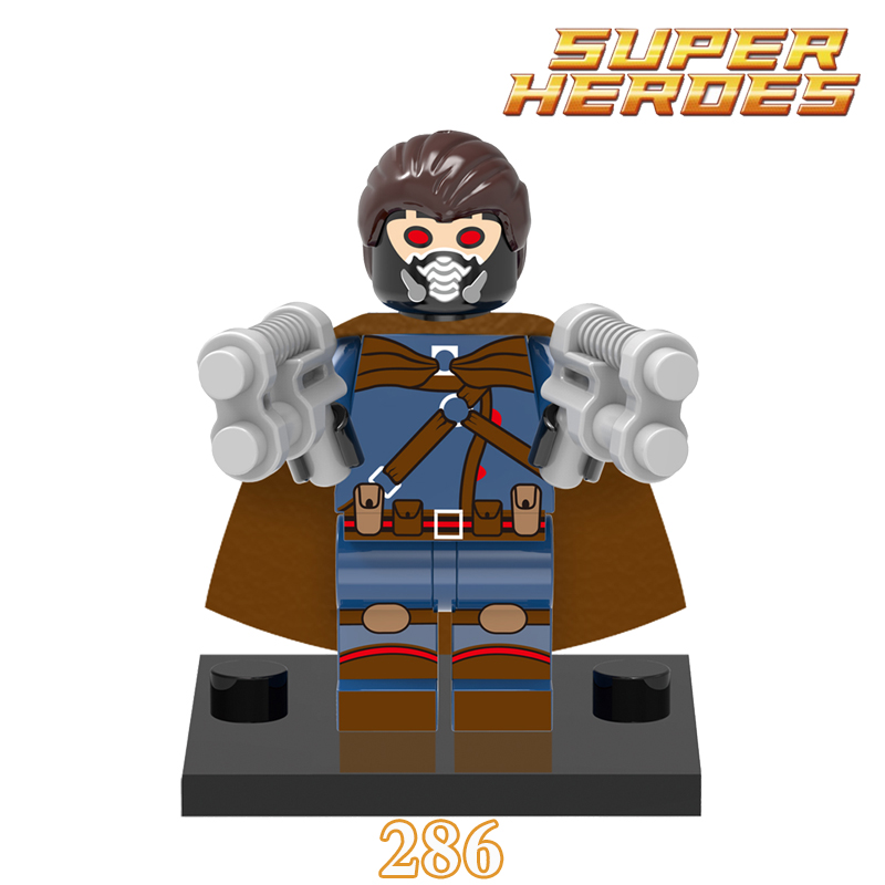 Single Sale Star-Lord Minifigures Marvel Comics X men Super Heroes Avengers Justice Building Blocks For XMAS Baby Kids Toys Gift<br><br>Aliexpress
