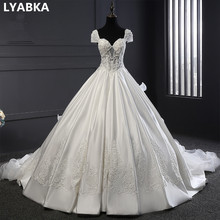 Sweetheart Wedding Dress Real Photo Robe De Mariee Custom Made White Satin Wedding Dresses Bridal Dresses 2017 Vestidos De Novia