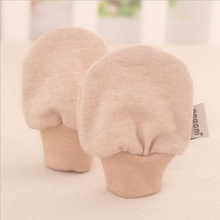 Baby Mittens 2016 Newborn Anti-catch Baby Gloves 100% Cotton Solid Color Super Soft Baby Mittens Unisex Boys Girls Gloves