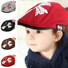 Cross Print Handsome Baby Boy Hat Adjustable Baby Beret Cap Accessories for 1-4 Years 1 PC