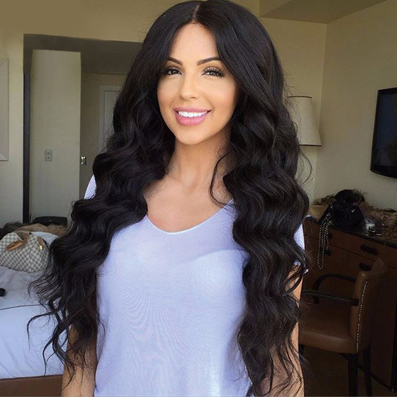 8A Full Lace Human Hair Wigs For Women Brazilian Virgin Hair Loose Wave Lace Front Wigs With Baby Hair Glueless Full Lace Wig<br><br>Aliexpress