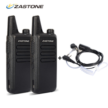 Zastone ZT-X6 Mini Walkie Talkie Pair Headset UHF 400-470Mhz Frequency Portable Handheld Radio Comunicador Two Way Amateur Radio(China)
