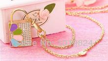 100% real capacity usb flash drives Usb Pen drive gift lock rainbow color crystal jewelry necklace S212(China)