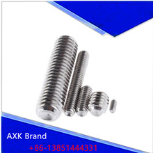 50Pcs DIN916 M2.5 M3 M4 304 Stainless Steel Metric Thread Surfboard Fin Screws Inner Hex Cup Point Socket Set Screw AXK61