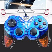 WELCOM WE-8400 USB Wired Control Vibration Gamepad Game Joystick Gaming Controller Handle Games Joypad For Win  PC