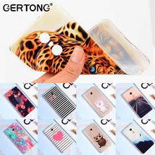 GerTong Printing Patterned Case Cover For Xiaomi Redmi Note 4 Pro Rose Heart Cat Railway Protective Shell Fundas Note 4 Global