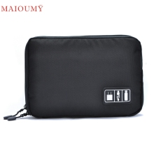 MAIOUMY Storage Bag USB Flash Drives Case Organizer Digital Pouch Data Earphone Cable  u70322 DROP SHIP