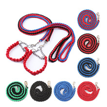 Heavy Duty Large Dog Choke Collar Nylon Pet Leash Slip Chain Show Obedience Training Gentle Choker for Extra Large Dogs(China)