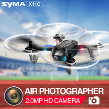 Syma X11C 4CH 2.4GHz Mini RC Helicopter Drone with 2.0MP HD Camera Pocket Quadcopter Dron Aircraft X11 NO Camera