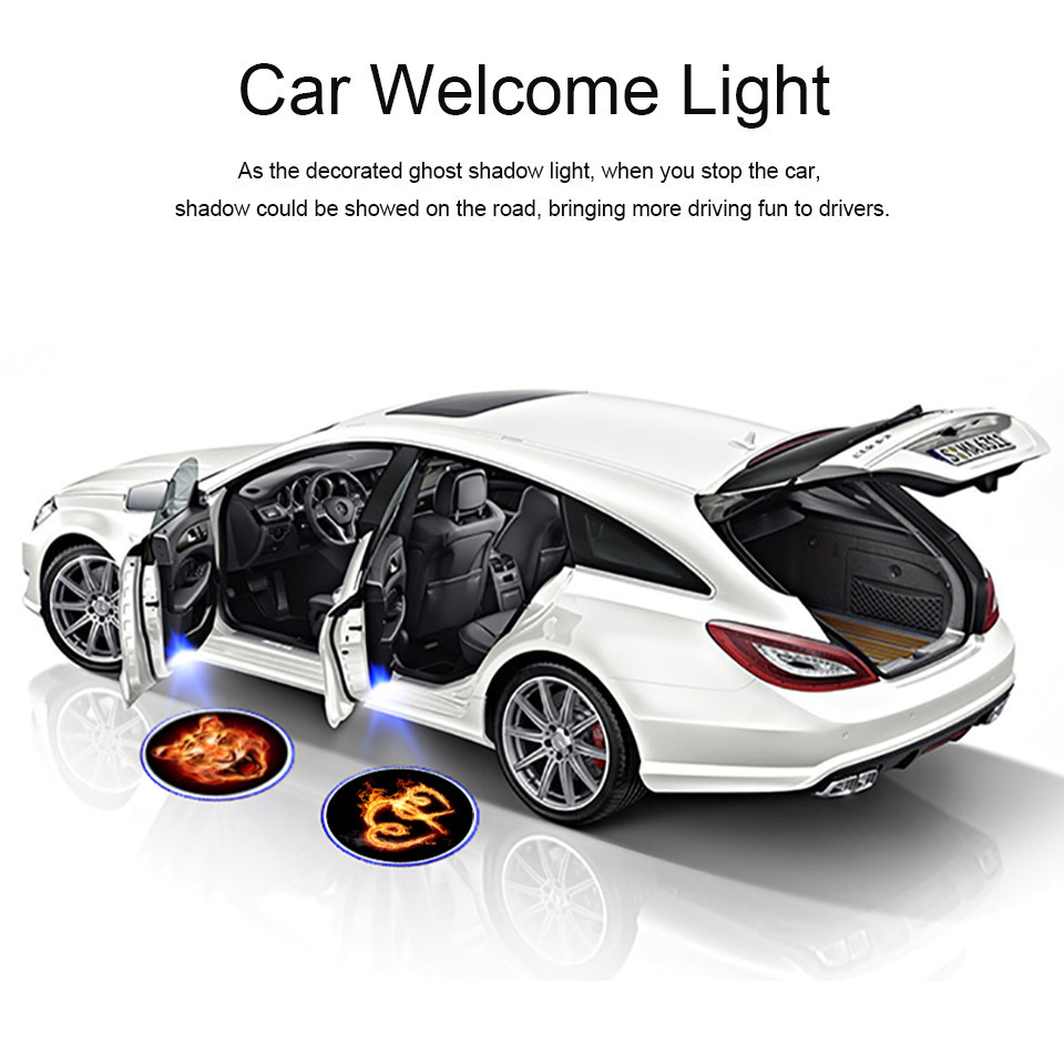 Wireless Car Door Welcome Logo Light Projector For Audi A3 A4 A6 A8 S3 S4 S6 S8 RS4 RS6 Q3 Q5