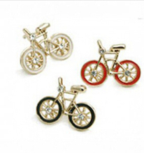 2017 Hot selling free shipping Fashion Jewelry wholesale for woman Vintage Cute Bike Design Earrings Love Bicycle Earring