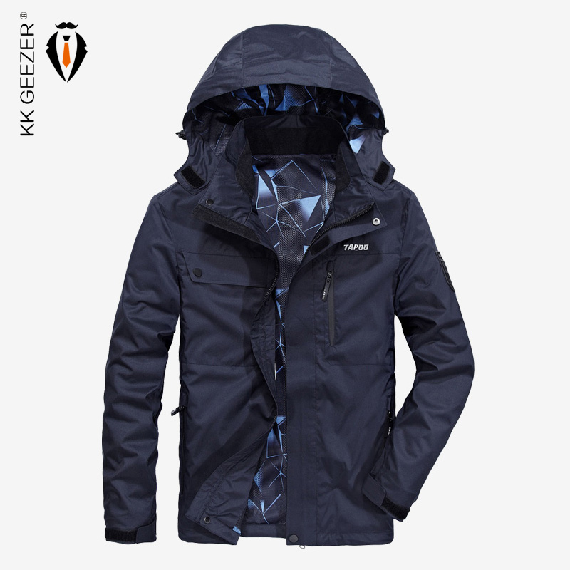 Men Jackets Military Windbreaker Autumn Men's Jackets Fashion High Quality Hooded Jacket Windproof Thin Loose Coat Overcoat