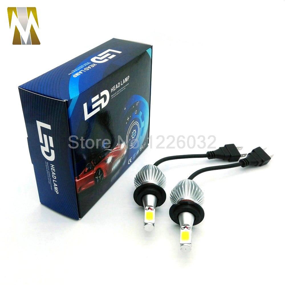 60W  LED DRL front lamp  6000K H4 Headlight aluminum Plug Play COB Fog car styling car headlight h4 9003 H7 H8 H11 H1 9005 9006<br><br>Aliexpress