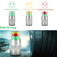4PCS/set Universal Visiable 32 Psi 2.2 Bar Air Warning Alert Tire Valve Pressure Sensor Monitor Light Cap Indicator For Cars