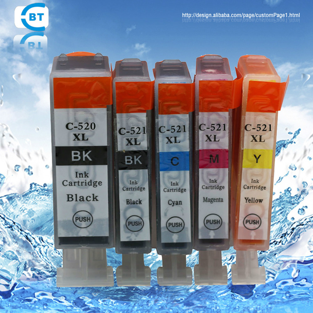 Compatible pgi520bk cli521 ink cartridge for IP3600/IP4600 printer <br><br>Aliexpress