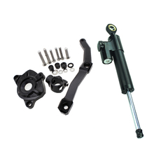 FXCNC Aluminum Motorcycles Steering Stabilize Damper Bracket Mount Kit For Kawasaki Z1000 2010-2013 2011 2012 Moto Support