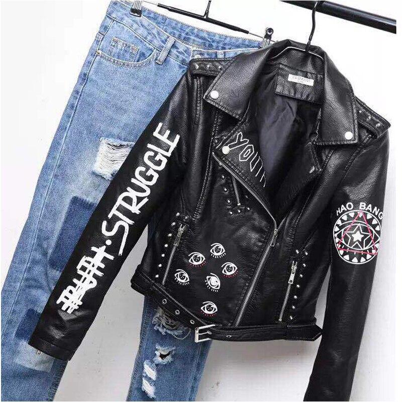 Women Punk Moto Coat(6)