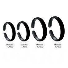 Hot Sale Fashionable Total Black Letter Ring Copper Incomplete Open Ring Marriage Equality Theme 4 Size(China)